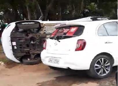 PRF registra acidente entre dois automóveis em Porto Velho, um capatou