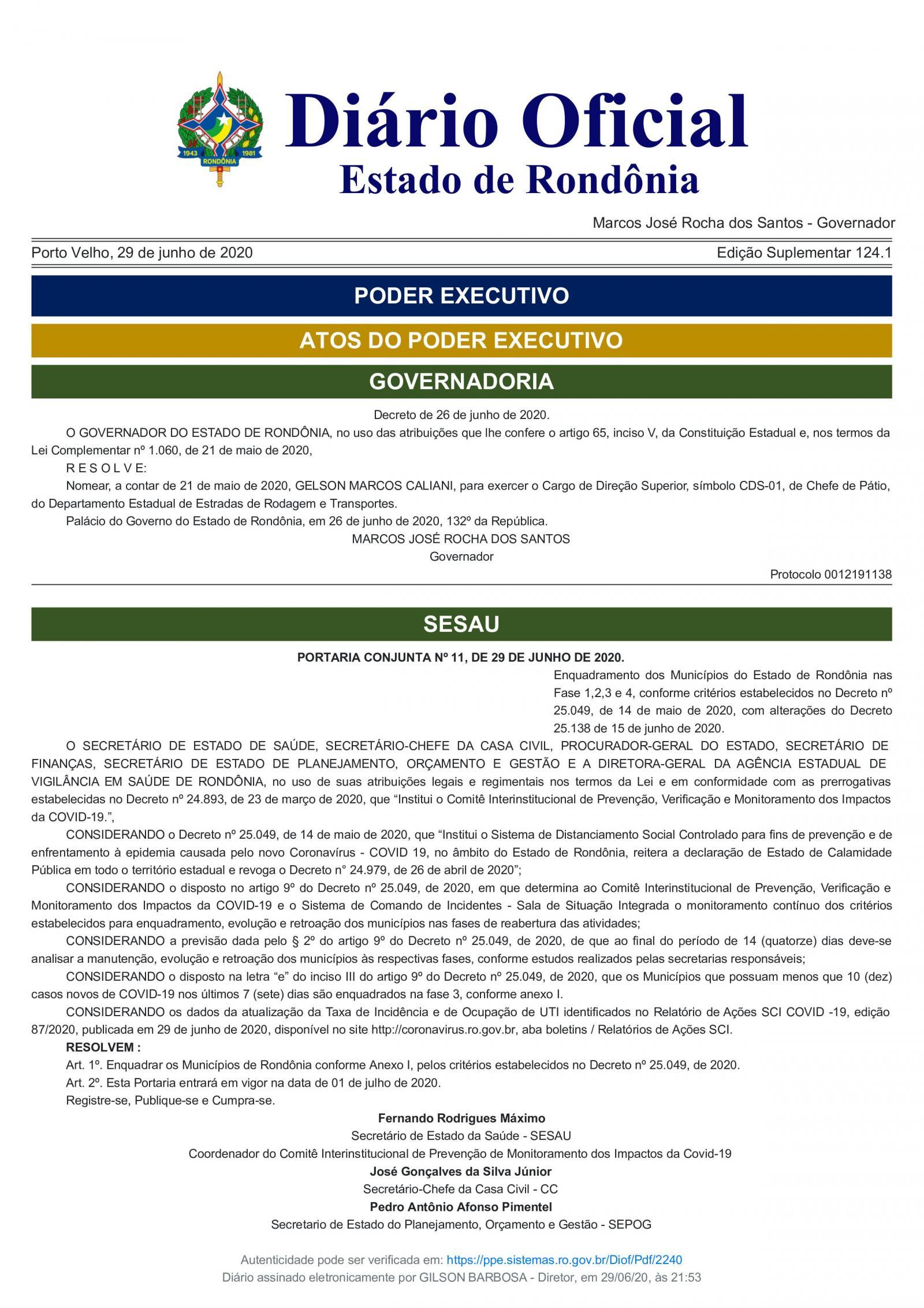 Prefeito em exercício fala sobre a situação de Rolim de Moura sobre o decreto do Governo do Estado; veja o vídeo