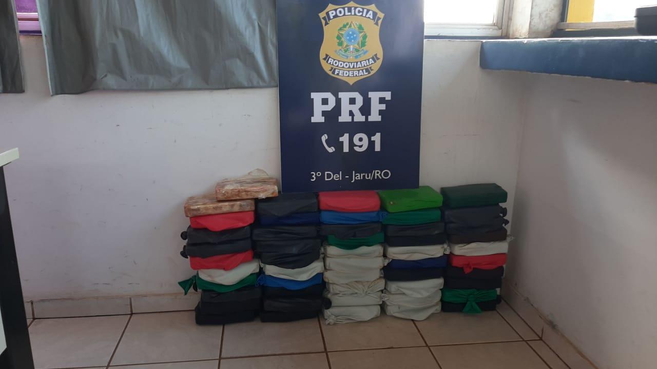 Nevou em Rondônia: PRF apreende carga de cocaína avaliada em mais de R$ 2 milhões em Jaru
