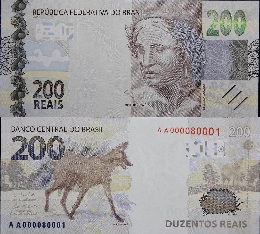 Banco Central lança oficialmente a nota de R$ 200, com imagem de lobo-guará; Veja a nota
