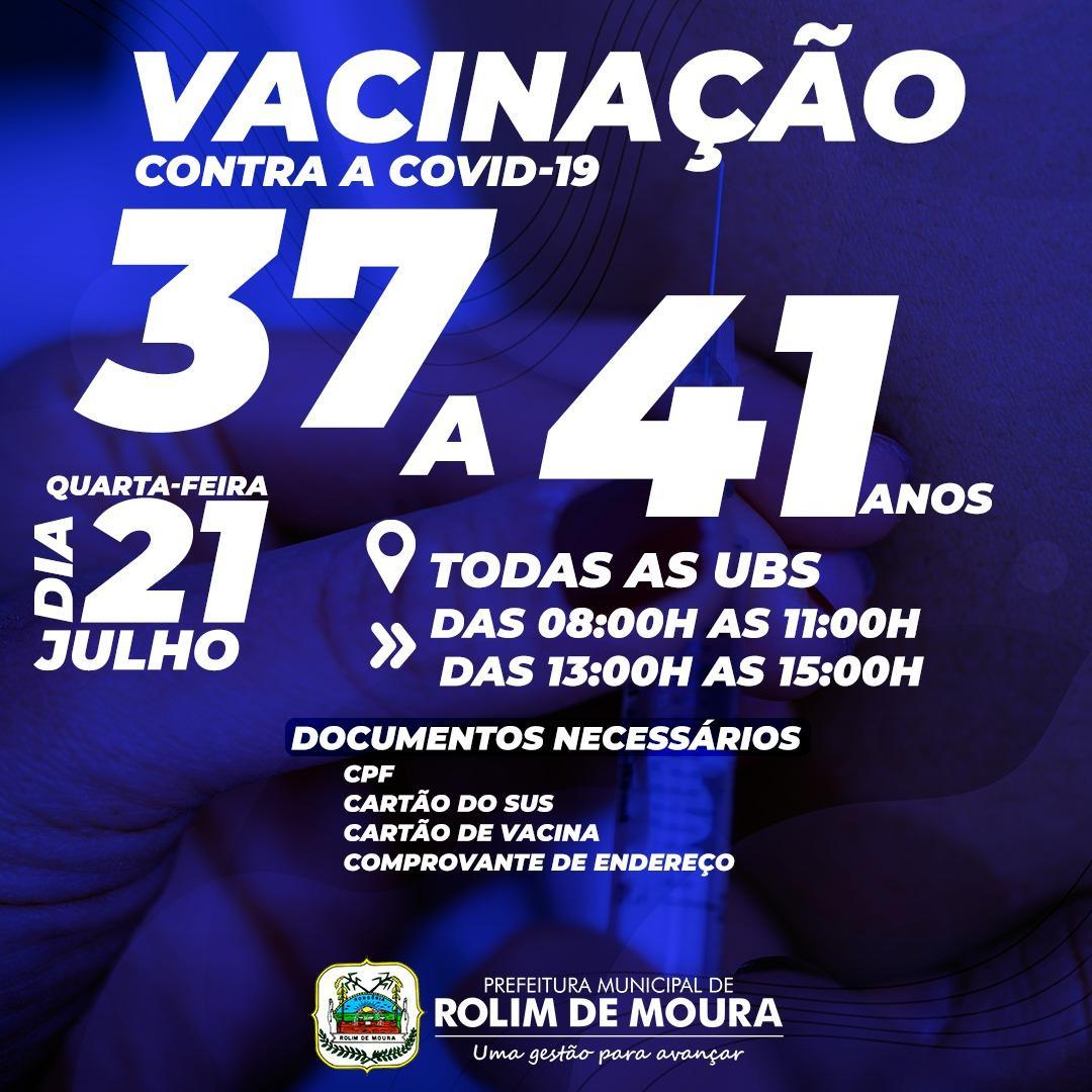 Rolim de Moura já aplicou mais de 26 mil doses de vacinas contra a covid-19, informou Semusa